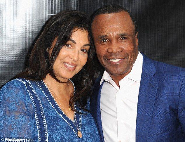 Boxer Sugar Ray Leonard and wife