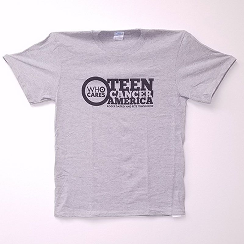 Teen Cancer America T-Shirt Grey